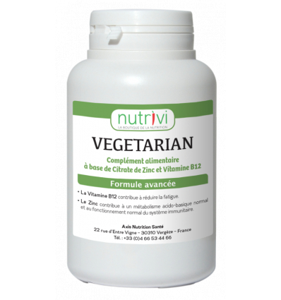 Vegetarian Zinc + vitamine B12 (120 gélules)
